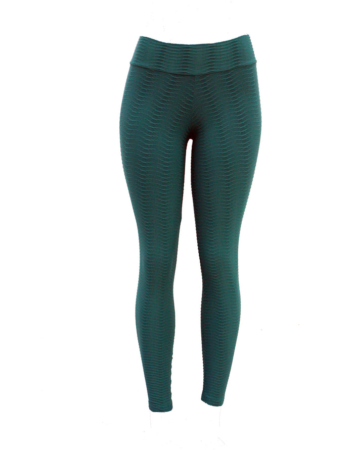 Hunter Green Scale Fish Leggings (Scrunchy Supplex)