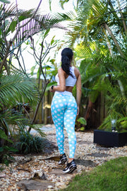 Baby Blue Polka Dream Leggings (Light Supplex)