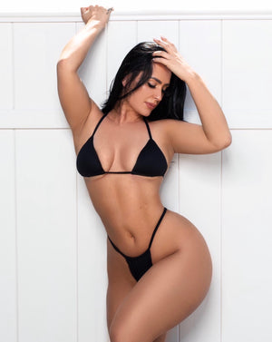 Black Velvet Swimwear Set (PRE-ORDER ONLY)