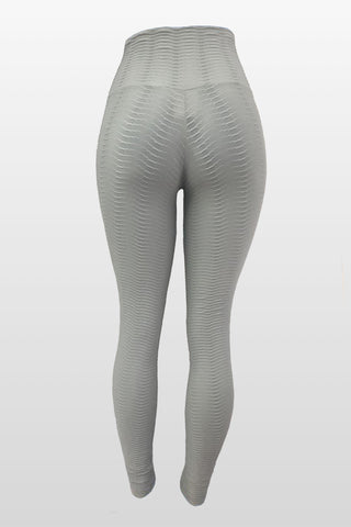 Light Grey Fish Scale Leggings