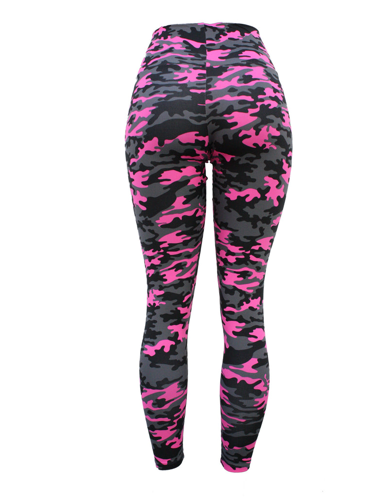 Pink Camo Leggings (Light Supplex)