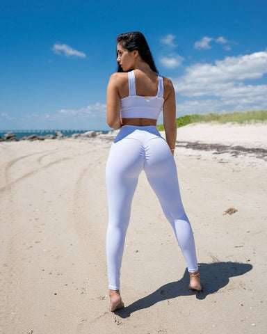 Branquinha Mesh Leggings (Thick Supplex)