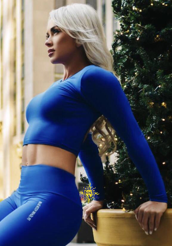 BBBFit Blue Crop Top
