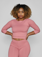 Pink Guava Cropped Top (Thick Supplex)