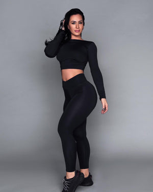 Black Bum Bum Pocket Leggings (Light/Thick Supplex)
