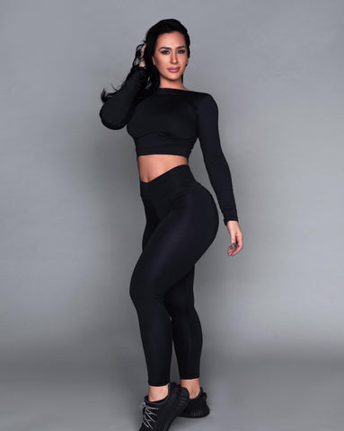 Black Bum Bum Pocket Leggings (Light Supplex)