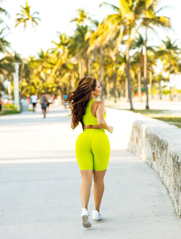 Laura Biker Short  (Citrus Lime )