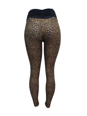 Leopard Fan Leggings (Light supplex)