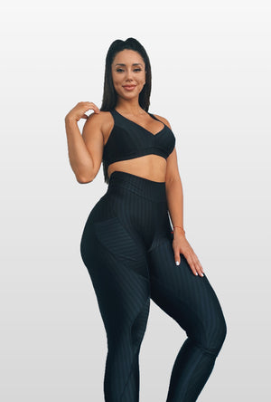 Black Heat Leggings ( Light Supplex)