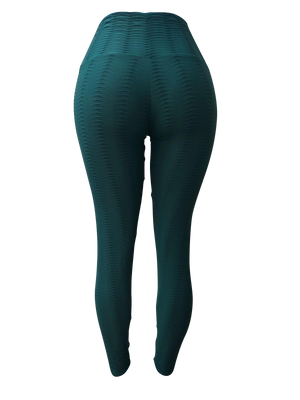 Cyan Fish Scale Leggings
