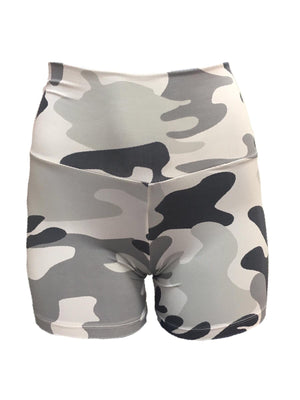 White Camouflage Shorts (Light Supplex)