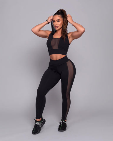 Black Blush Leggings (Thick Supplex)