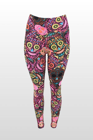Colorful Night in Mexico Leggings (Light Supplex)
