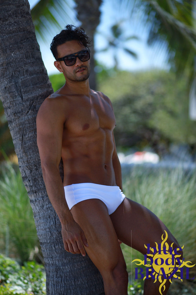 White Speedo (Brazilian Male Swimwear style)
