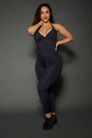 Black Bum Bum Pocket Bodysuit