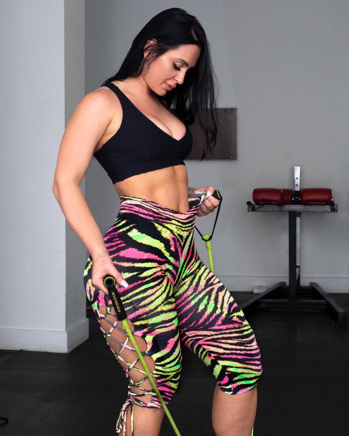 Zebra Colorful Fit Leggings (Light Supplex)