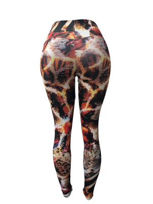 Wild Print Leggings (Light Supplex)