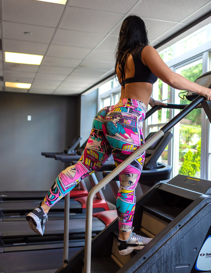 Pink Cartoon Light/Thick Supplex Leggings