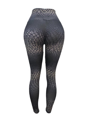 Grey Python Leggings (Light Supplex)