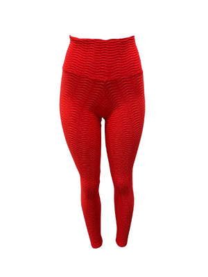 Red Fish Scale Leggings