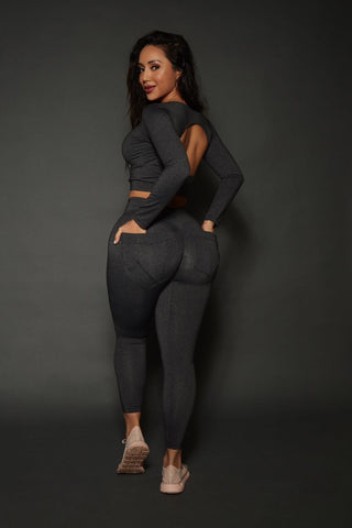 Heather Grey Bum Bum Pocket Leggings