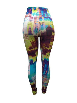 Digital Glitch Leggings (Light supplex)