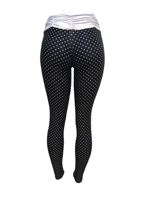 Spotted Black Leggings (Light supplex)