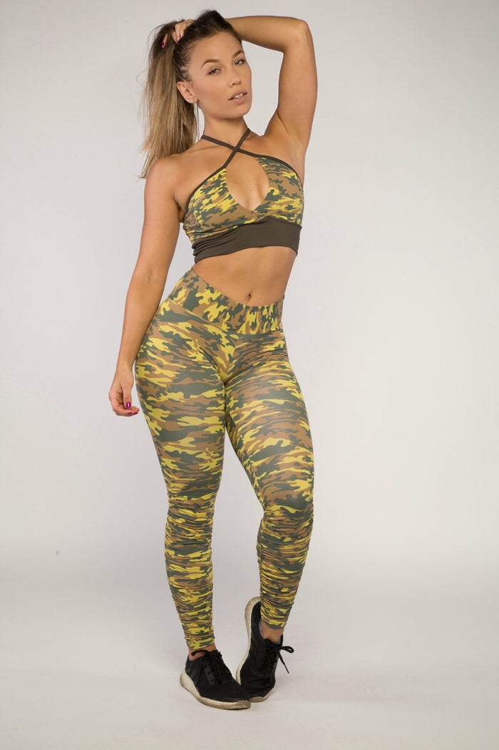 Scrunched Camouflage Leggings (Light/Thick Supplex) | BBB Fit