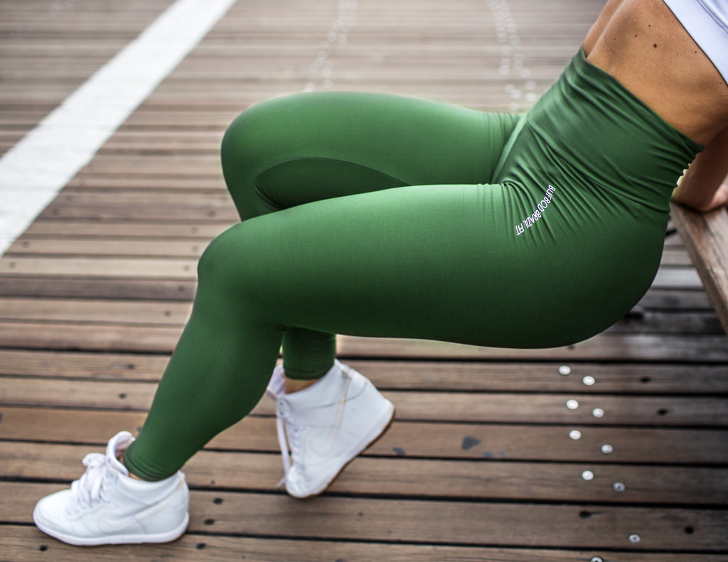 Forest  Green Leggings (Light/Thick Supplex) | BBB Fit