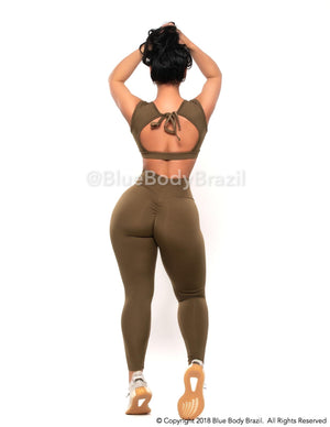 Olive Verte Leggings (Thick Supplex)