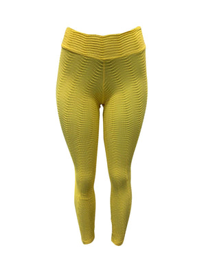Yellow Fish Scale Leggings