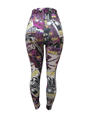 Comic Strip Leggings (Light supplex)