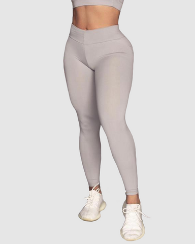 Light Grey Bum Bum Pocket Leggings (Light Supplex)
