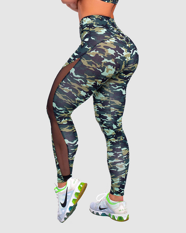 Mesh Savage Camo Leggings