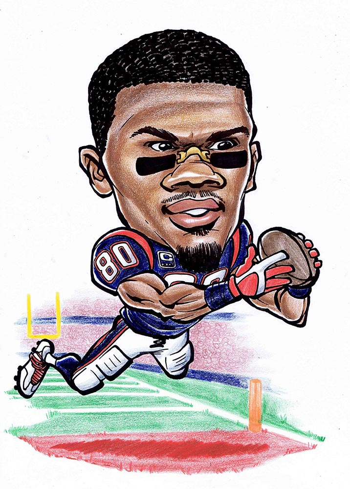Andre Johnson Caricature