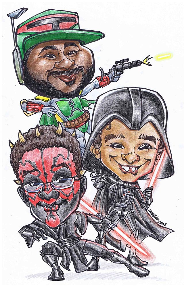Star Wars Caricature