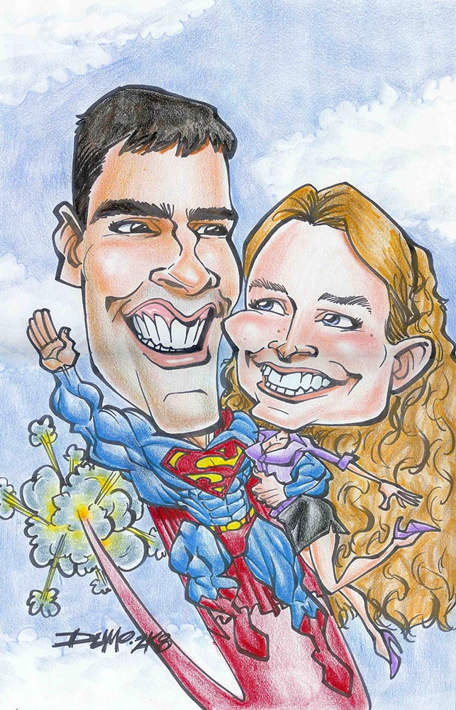 Superman Caricature