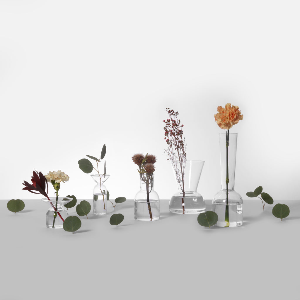 Clear Gather Vases—Bundle