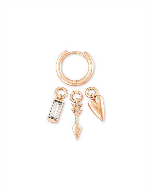 Zoey Huggie Earrings Rose Gold