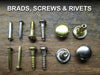 brads screws and rivets