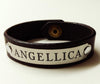 "Leather Horse Bracelet with 3"" Custom Engraved Plate Men's/Wide starting at"