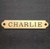 "Halter Plate Large EXTRA Thick 4 1/4"" x 3/4"" x .0625"" Solid Brass Scalloped Corners Horse Name Plate starting at"