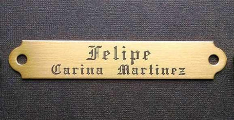 halter name plate