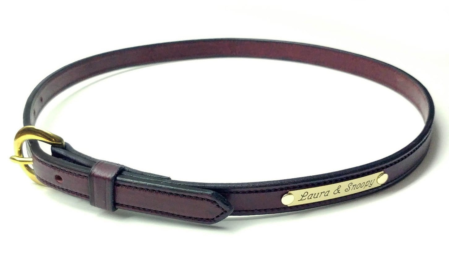 Equestrian Leather Belt With or Without Custom Engraved Solid Brass ...
