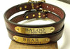 "Leather Dog Collar 1"" with engraved name plate"
