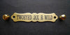 engraved halter name plate large ornate fancy brass