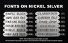 fonts on nickel silver