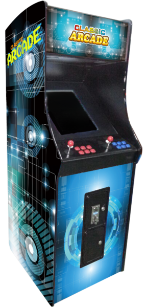 DELUXE UPRIGHT ARCADE GAME-60 CLASSIC GAMES