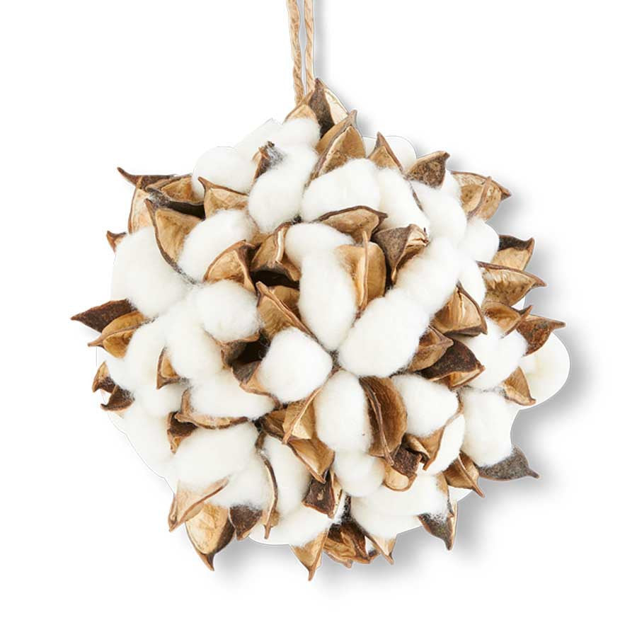 Cotton Pod Ornament - Fixer Upper Style