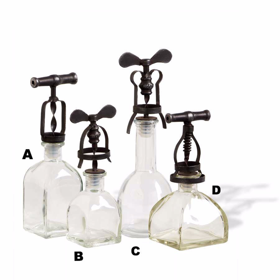 Glass Bottles w/ Wine Opener Lids - E.T. Tobey Company